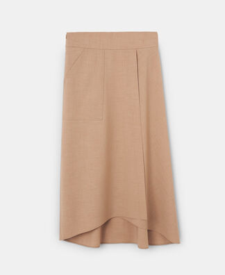 ASYMMETRICAL SKIRT WITH POCKET