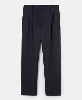 LYOCELL AND COTTON TWILL TROUSERS