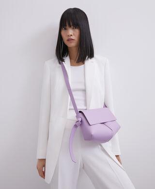 Purple Vachetta leather flap crossbody bag