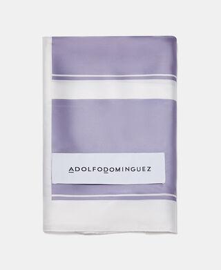 Straight printed foulard with logo