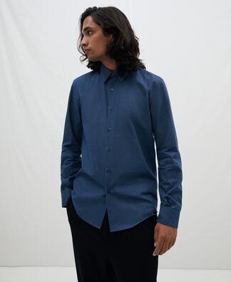 Hidden button cotton shirt