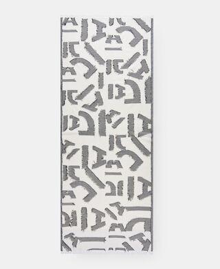 Black and white Cotton printed shawl