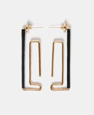 Zinc labyrinth earrings