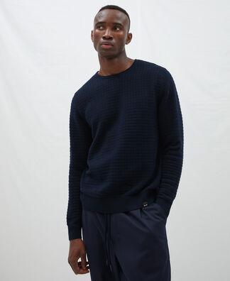 Jersey cuello rulo en algodón