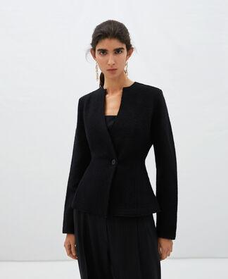 Merino wool crossover jacket