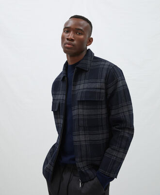 Double face plaid jacket