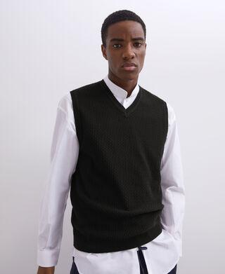 V-neck cotton waistcoat