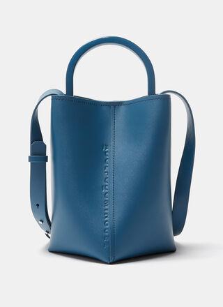 Vachetta leather bucket bag