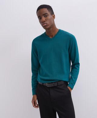 Jersey cuello caja textura de algodón