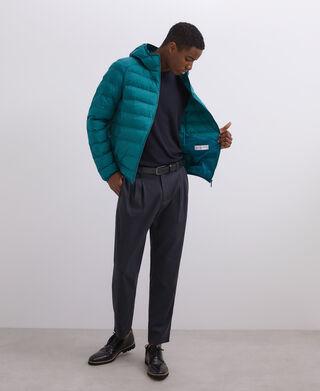 Acolchado verde con capucha