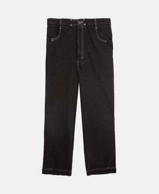 Pantalón vaquero pespuntes en contraste