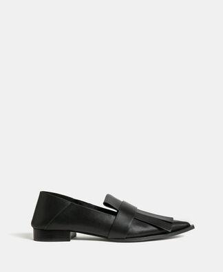 Zapato plano maxi flecos