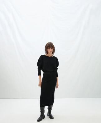 English knit tube skirt