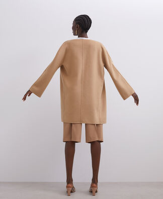 CAMEL MERINO WOOL COAT