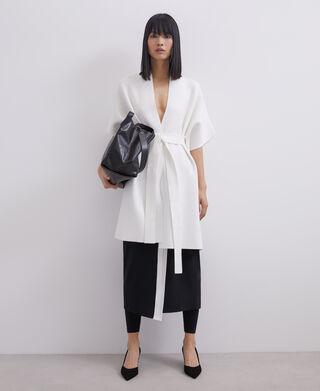 Cerrojillo knit kimono with belt