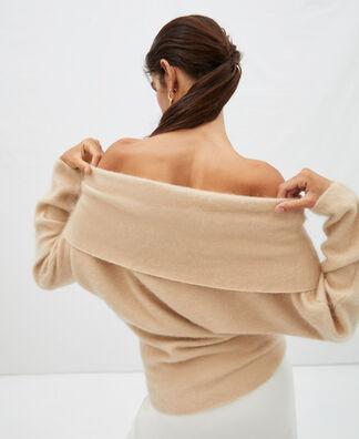 Jersey oversize cuello amplio