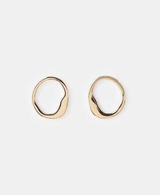 Organic zinc-plated earrings