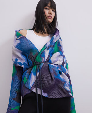 Wrap-around collar jacket