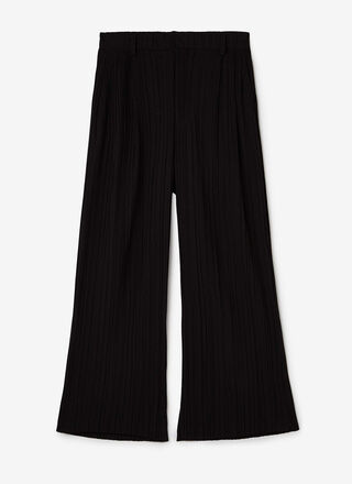 STRAIGHT CRINKLE TROUSERS