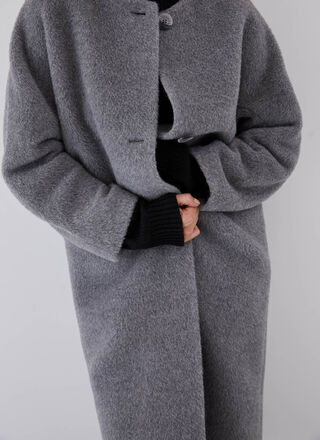 ALPACA AND MERINO WOOL LONG COAT