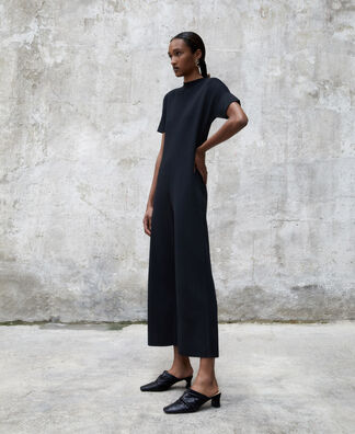 Viscose knitted jumpsuit