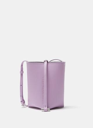 Purple Vachetta leather bucket bag
