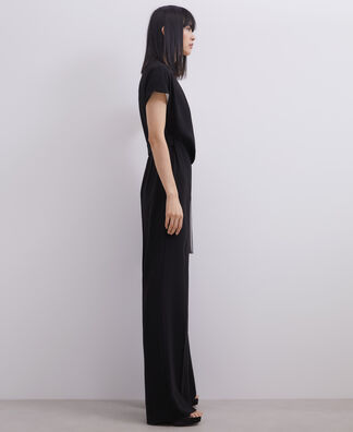 STRAIGHT BICOLOUR JUMPSUIT WITH BELT