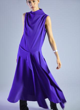 DRESS WITH ASYMMETRIC NECKLINE