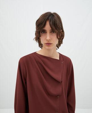 Diagonal placket shirt