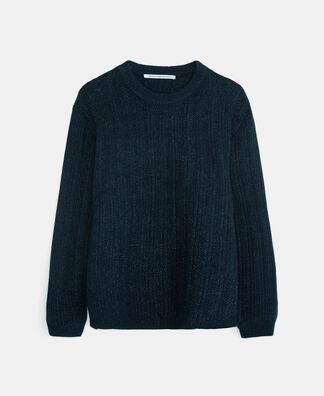 Striped wide knit sweater