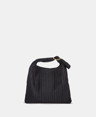 Cocktail bag in pleated fabric