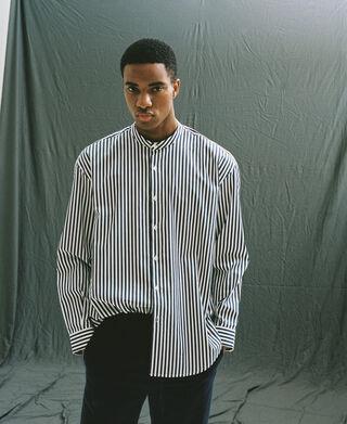 Camisa cuello mao raya marinera