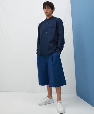 Mandarin collar baker's shirt