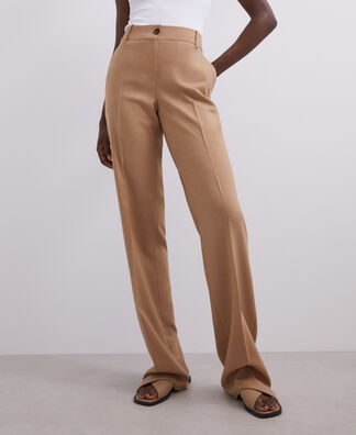 HIGH-WAISTED STRAIGHT TROUSERS