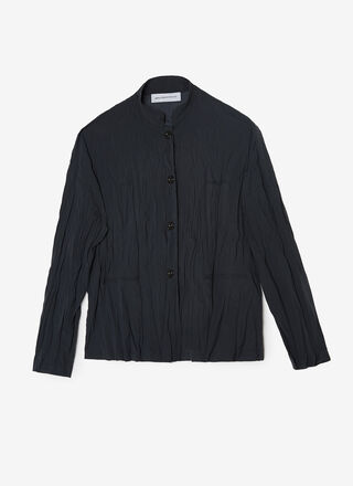 PLEATED OVERSHIRT
