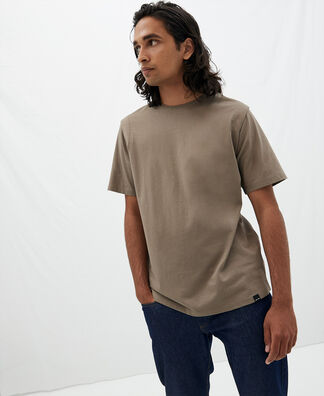 T-shirt with emptied shoulders in cotton