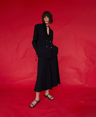 WIDE TROUSERS WITH BUTTON DETAIL