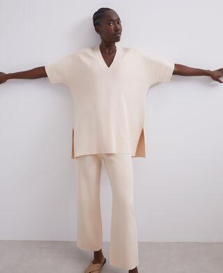 Camiseta oversize asimétrica en viscosa