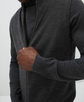 Chaleco cuello redondo en tejido de lana