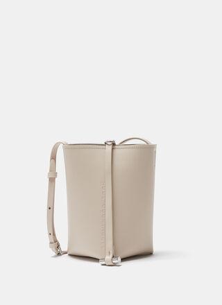 Beige Vachetta leather bucket bag
