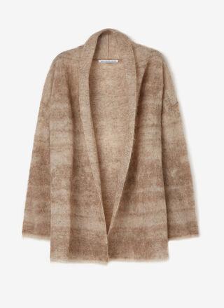Jacquard knit mohair jacket