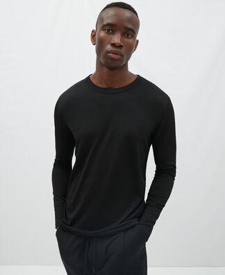 Camiseta manga larga en tejido arrugado