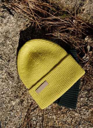 RIBBED COTTON BEANIE HAT