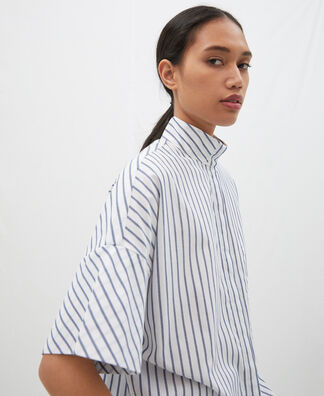 Oversize striped shirt in cotton