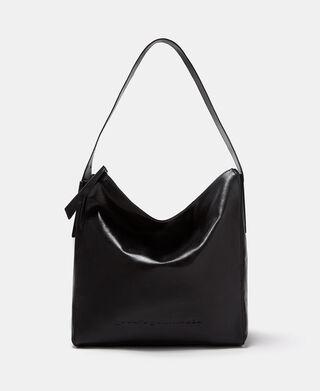 Cracked leather hobo bag