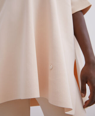 Viscose asymmetric oversize t-shirt