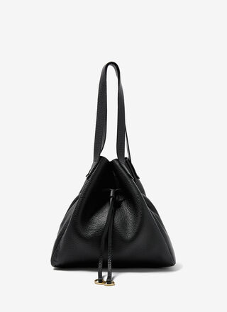 GRANULATED LEATHER SHOPPER BAG