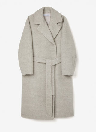 Alpaca and merino wool tailoring coat