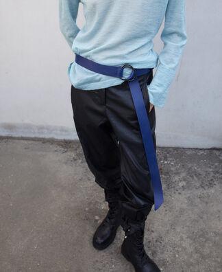 Cinturón doble pasador en piel