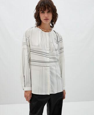 Labyrinth print blouse